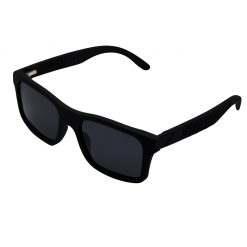 Matte Black Wooden Tribal Sunglasses